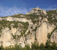 Limestone cliffs and forest Stock Image