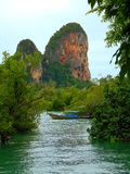 Limestone cliffs in Krabi Royalty Free Stock Photos