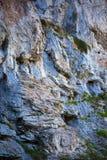Limestone cliffs on mountain Stock Photo