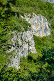 Limestone cliffs on mountain Royalty Free Stock Image