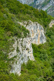 Limestone cliffs on mountain Stock Images