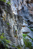Limestone cliffs on mountain Stock Image