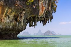 Limestone cliffs in the Pang Nga bay Stock Photo