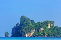 Limestone cliffs of Phi Phi Don Island, Krabi Province, Thailand Stock Images