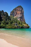 Limestone cliffs of Railay bay in Krabi Stock Photo