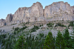 Limestone Cliffs of the Scapegoat Wildrness Stock Image