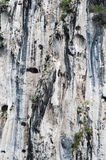 Limestone cliffs textures Royalty Free Stock Photo
