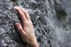Limestone climbing Royalty Free Stock Images