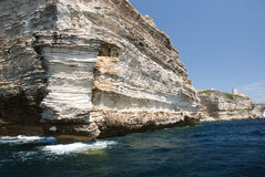 Limestone coast around Bonifacio, Corsica Stock Photography