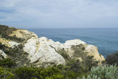 Limestone Coastline on the Great Ocean Road, Southern Victoria Royalty Free Stock Photos