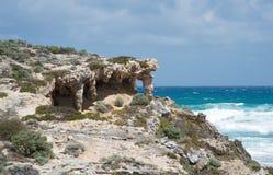Limestone Columns Royalty Free Stock Photos