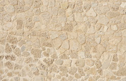 Limestone and coral blocks in wall of Bahrain Fort Stock Photography