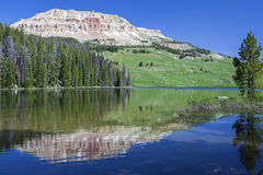 Beartooth Butte and Beartooth Lake Stock Photography