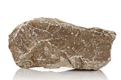 Limestone. Crushed stone , limestone, in the Studio on a white background royalty free stock images