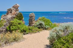 Limestone Decorated Coastal Path royalty free stock photos