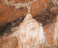 Limestone dripstones in Koneprusy caves, Czech republic Stock Photo