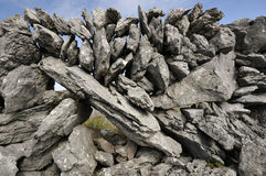 Limestone Dry Stone Wall. Of The Burren Stock Images