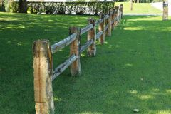 Limestone Fence. Used to be a common occurrence in parts of Kansas farms Stock Photography