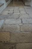 Limestone flagstone paving Stock Photo