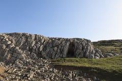 Limestone formation. Limestone rock formation at Cape Espichel, Sesimbra, Portugal Stock Photo