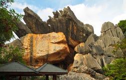 Limestone formation at Kunming Shilin Royalty Free Stock Photo