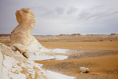 The limestone formation rocks in the Sahara, Egypt Royalty Free Stock Photo