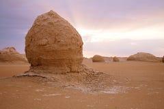The limestone formation rocks on sunrise Royalty Free Stock Photos