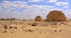 The limestone formation rocks in the Western White Desert,  Farafra, Egypt Royalty Free Stock Photography