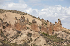 Limestone formations in Cappadocia, Turkey Royalty Free Stock Photography