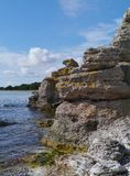 Limestone formations at the coast Royalty Free Stock Photos