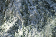 Limestone formations at the hot springs Royalty Free Stock Photo
