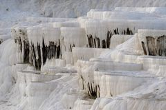 Limestone formations Pamukkale Stock Photos
