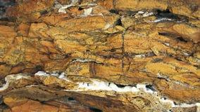 Limestone Formations At Tarkhankut Coast In Crimea stock footage