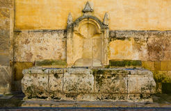 Limestone fountain in Cordoba Stock Photography