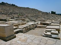Limestone Graves, Jewish Cemetery, Mount of Olives, Jerusalem. Limestone Jerusalem stone graves in Jewish Cemetery, Mount of Olives, Jerusalem, Israel Stock Image