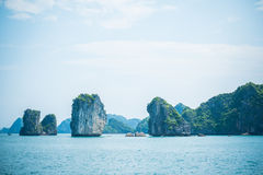 Limestone Halong bay landscape Royalty Free Stock Images