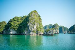 Limestone Halong bay landscape Stock Photos