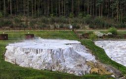 The limestone hill of Egerszalok Royalty Free Stock Photos