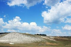 Limestone hill landscape Royalty Free Stock Photos