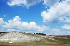 Limestone hill landscape Royalty Free Stock Photos