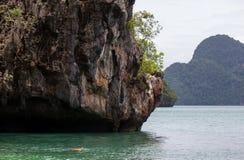 Limestone hills around Lading islandParadise island in Krabi province,Southern Thailand. Royalty Free Stock Photo
