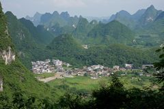 Limestone hills, China Stock Photo