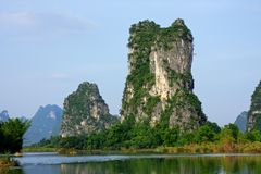Limestone hills, China Royalty Free Stock Photos