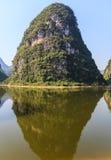 Limestone hills at the Li river Stock Images