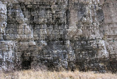Rocky Horizontal Layers. Picture showing multiple horizontal limestone layers. Limestone represents the main rock of the Piatra Craiului massif in the Carpathian royalty free stock images