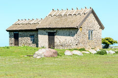 Limestone house Stock Photography