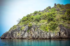 Limestone island of the Andaman Sea Stock Photography