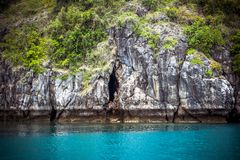Limestone island of the Andaman Sea Stock Image