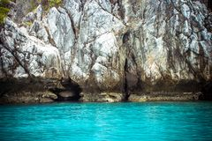 Limestone island of the Andaman Sea Royalty Free Stock Image