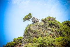 Limestone island of the Andaman Sea Royalty Free Stock Photos